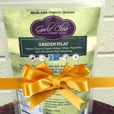 It's 12 Days of Garlic Clove Foods Gift Ideas! Day 11: Healthy Helping Hand.  We've all got a friend who's timid in the kitchen. Give them the gift of an easy 30 minute meal with our Mediterranean Garden Salad recipe! Pack up our Garden Pilaf (or Gluten Free Garden Pilaf) with one jar each of sundried tomatoes, artichoke hearts, and kalamata olives. Print out the recipe and pack it all up with a little love note for the gift of a great meal!
