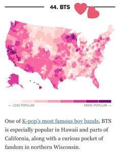 What Music Do Americans Love the Most? 50 Detailed Fan Maps nyti.ms/2uxWaBG via @UpshotNYT #방탄소년단 #BTS