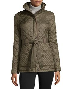 Fiona Quilted Belted Jacket, Loden by Marc New York by Andrew Marc at Neiman Marcus Last Call.