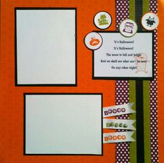 Scrappin' Did Happen!!    Here is a sneak peek at the 4 page layout we are making at my October Scrapbook Class!          I had a blast put...