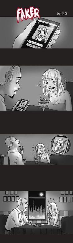 Silent Horror :: Faker   Tapastic Comics - image 1
