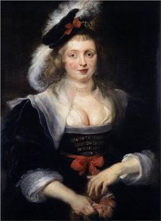 1632 c Peter Paul Rubens (Flemish Baroque painter, 1577-1640) Artist's 2nd wife Helena Fourment with Gloves