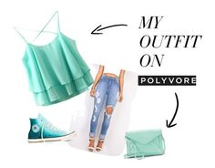 """""""Turquoise"""" by lia-fashion ❤ liked on Polyvore featuring Converse and Apt. 9"""
