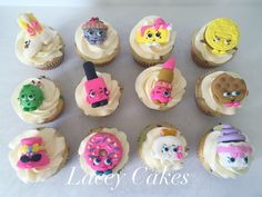 Fondant Shopkin cupcake toppers