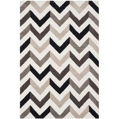 FREE SHIPPING! Shop AllModern for Safavieh Cambridge Ivory & Black Chevron Area Rug - Great Deals on all  products with the best selection to choose from!