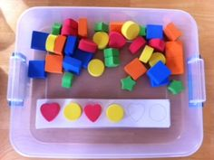 Busy box ideas...shape patterning