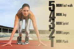 Count down your workout with this quick exercise routine. Do this four times. Fitness Binder, Fitness Tips, Fitness Motivation, Workout Binder, Quick Workout Routine, 15 Minute Workout, Quick Workouts, Fit Board Workouts, Running Workouts
