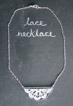 lace necklace - Google Search
