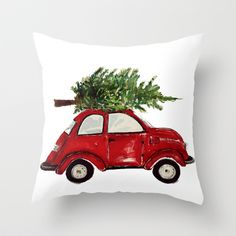 Buy Red Christmas Beetle  by Craftberrybush as a high quality Throw Pillow. Worldwide shipping available at Society6.com. Just one of millions of products…