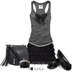 Black and Gray, created by kentucky-carolina on Polyvore