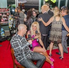 Daniel Anderson, Sabrina A. Parisi attending the 2015 American Film Market (AFM) - Kitesurfing TV Launch Party with Breaking Glass Pictures held at the Lounge at 1733 Ocean Avenue in Santa Monica, CA, USA on 11/08/2015 | GVA-000404