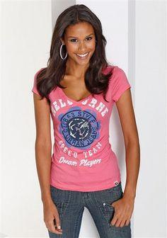 Kangaroos Shirt im Online Shop von Ackermann Versand Im Online, Kangaroos, T Shirt, Shopping, Tops, Women, Fashion, Supreme T Shirt, Moda