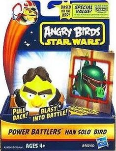Up for sale is a Angry Birds Star Wars Hans Solo Bird Power Battlers by Hasbro. This Hans Solo Angry Birds Power Battlers comes new in box and original packaging. Classic Star Wars characters get a br