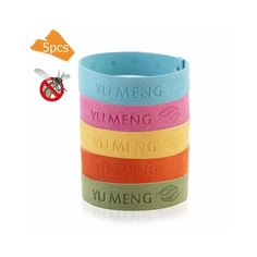 6Pcs Mosquito Repellent Aromatherapy Diffuser Insect Repellent Bracelet WH