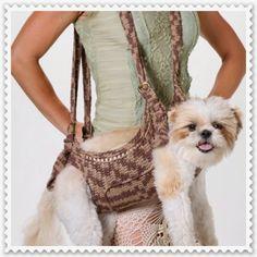 A MAGIA DO CROCHÊ - Katia Missau: Bolsa em Crochê para Transporte de Cães