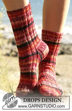 - Free knitting patterns and crochet patterns by DROPS Design Drops Design, Knitting Patterns Free, Free Knitting, Free Pattern, Crochet Diagram, Work Tops, Knitting Socks, Knit Socks, Chain Stitch