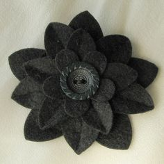 Grey felt pin
