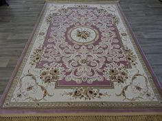 Gold & Pink Traditional Turkish Rug Size: 160 x 230cm
