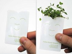 This adorable seed packet business card