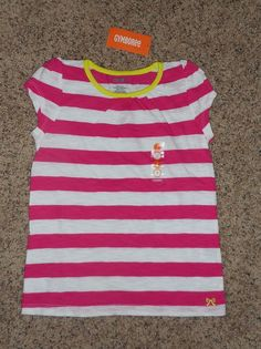 868438b9621c BTS Gymboree Bright Ideas Girl Sz 7 Summer Pink Strip Short Sleeve Shirt  Top NWT #Gymboree #Everyday