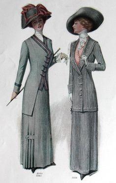 1912 Ladies Home Journal Fashion Page Edwardian Dresses Hat's Augusta Reimer 1   eBay