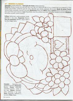 Talita Monteiro: Pintura em tecido Menina e Flores
