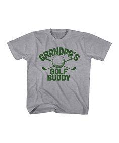 Gray Heather 'Grandpa's Golfing Buddy' Tee - Toddler & Boys by It's All Relative #zulily #zulilyfinds