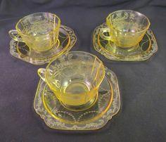 Vintage Federal Depression Amber Madrid Cup Saucer | eBay