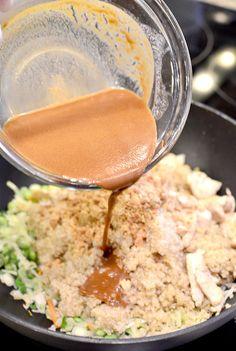 Thai Peanut Chicken Quinoa Bowls | Iowa Girl Eats