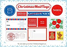 free printable ~ Christmas mail tags  Not that I mail anything package wise--
