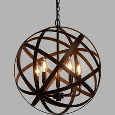 wooden sphere chandelier - Google Search