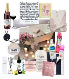 """Bath time"" by mony-nymo on Polyvore featuring interior, interiors, interior design, home, home decor, interior decorating, Serena & Lily, philosophy, 111Skin and Riedel"