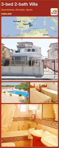 3-bed 2-bath Villa in Guardamar, Alicante, Spain ►€265,000 #PropertyForSaleInSpain