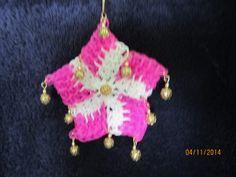 Rainbow Loom Star Christmas Ornament