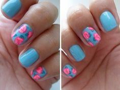 Floral Nails! http://couturecult.blogspot.com/  https://www.facebook.com/couturecultblog