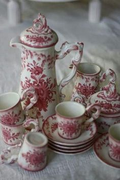 FRENCH FLORAL TEA SET...<3