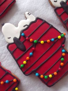 Sugar #cookie cutouts with bright frosting depict one of our favorite #holiday classics: A Charlie Brown Christmas.