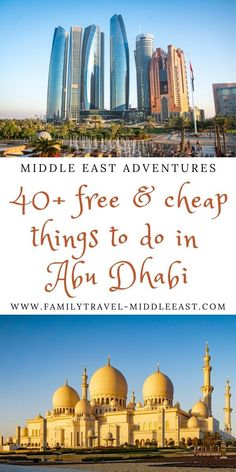 A city renowned for it's glitz and glamour actually lays claim to many amazing cheap and FREE attractions for tourists to enjoy, as well as affordable luxury accommodation - come and see why Abu Dhabi should make it to your must-visit bucket list Cheap Things To Do, Free Things To Do, Amazing Destinations, Travel Destinations, Travel Tips, Travel Ideas, Travel With Kids, Family Travel, Desert Life