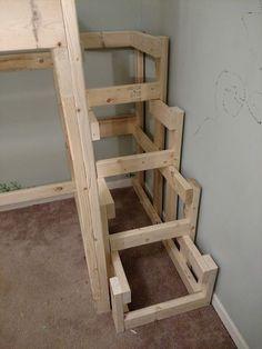 diy loft bed for kids how to build / diy loft bed _ diy loft bed for kids _ diy loft bed for adults _ diy loft beds for small rooms _ diy loft bed plans _ diy loft bed for kids how to build _ diy loft bed with desk _ diy loft bed for kids small room Loft Bed Stairs, Bunk Beds With Stairs, Kids Bunk Beds, Loft Beds, Bunk Bed Steps, Stair Plan, Loft Bed Plans, Diy Bett, Decorate Your Room