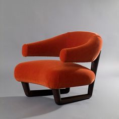 Jean Royère; Varnished Beech 'Salon Sculpture' Chair, 1959.