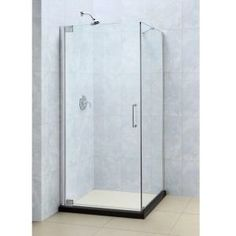 Clear and brushed nickel frameless shower enclosure 36 inch by 48 dreamline elegance 34 in x 34 in x 72 in frameless pivot shower planetlyrics Gallery