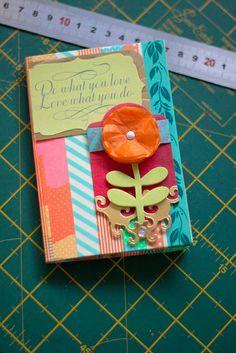 washi tape card/photo holder