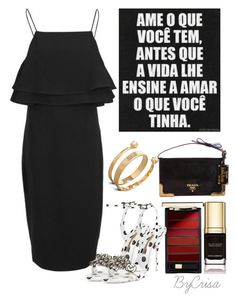 """""""Untitled #630"""" by crisa-gloria-eduardo ❤ liked on Polyvore featuring Finders Keepers, Dolce&Gabbana, Sophia Webster, Alexander McQueen, Prada and L'Oréal Paris"""