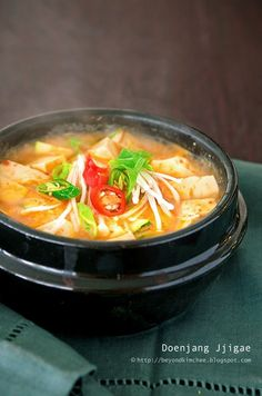 Doenjang Jjigae (Korean tofu stew) - thanks the the love of my life, I am addicted to all Korean foods. This tofu stew is especially exceptional (with great health benefits).