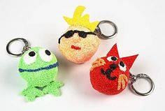 Foam Clay keyrings for you to get creative with in your Clay Creations Fun Arty Box