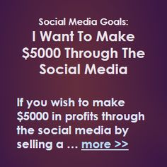 If you wish to make $5000 in net profit through the social media by selling a product or service, you will need to read the following … more >> #SocialMediaMarketing #SocialMedia #SMM #SMO #SocialMarketing #Marketing #Sales