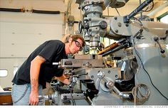 trade schools are seeing record enrollment in manufacturing-related programs as need for skilled factory workers explodes. School Enrollment, Technical Schools, Factory Worker, American Manufacturing, Online Programs, Emergency Preparedness, Planer, Career, Learning