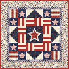 Liberty Square Patriotic Quilt Kit, Stars & Stripes Stonehenge by ... : free patriotic quilt block patterns - Adamdwight.com