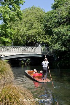 Punting on the Avon River, Christchurch, New Zealand South Island, Small Island, Pacific Ocean, Fiji, Rivers, All Over The World, Lakes, Avon, New Zealand