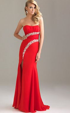 Red Diamond Prom Dress